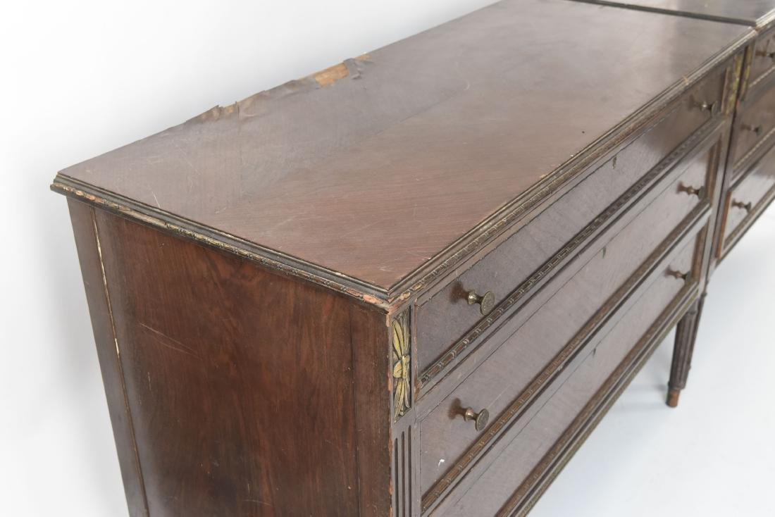 PAIR OF ANTIQUE THREE DRAWER CHESTS - 10