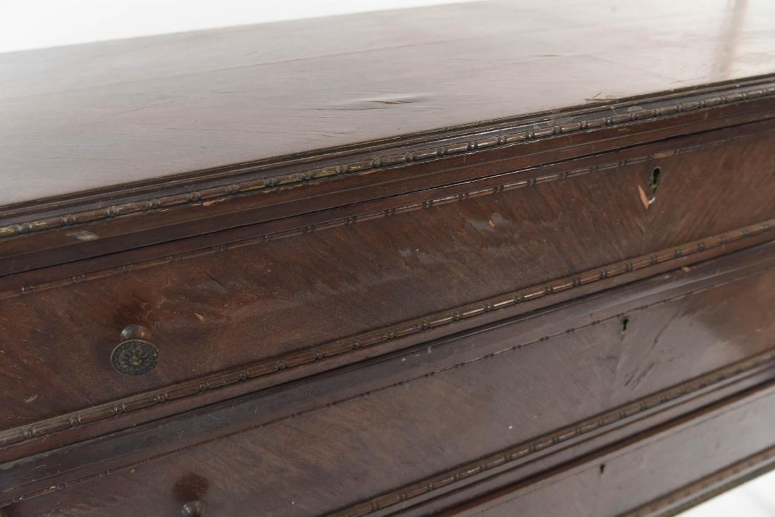 PAIR OF ANTIQUE THREE DRAWER CHESTS - 4