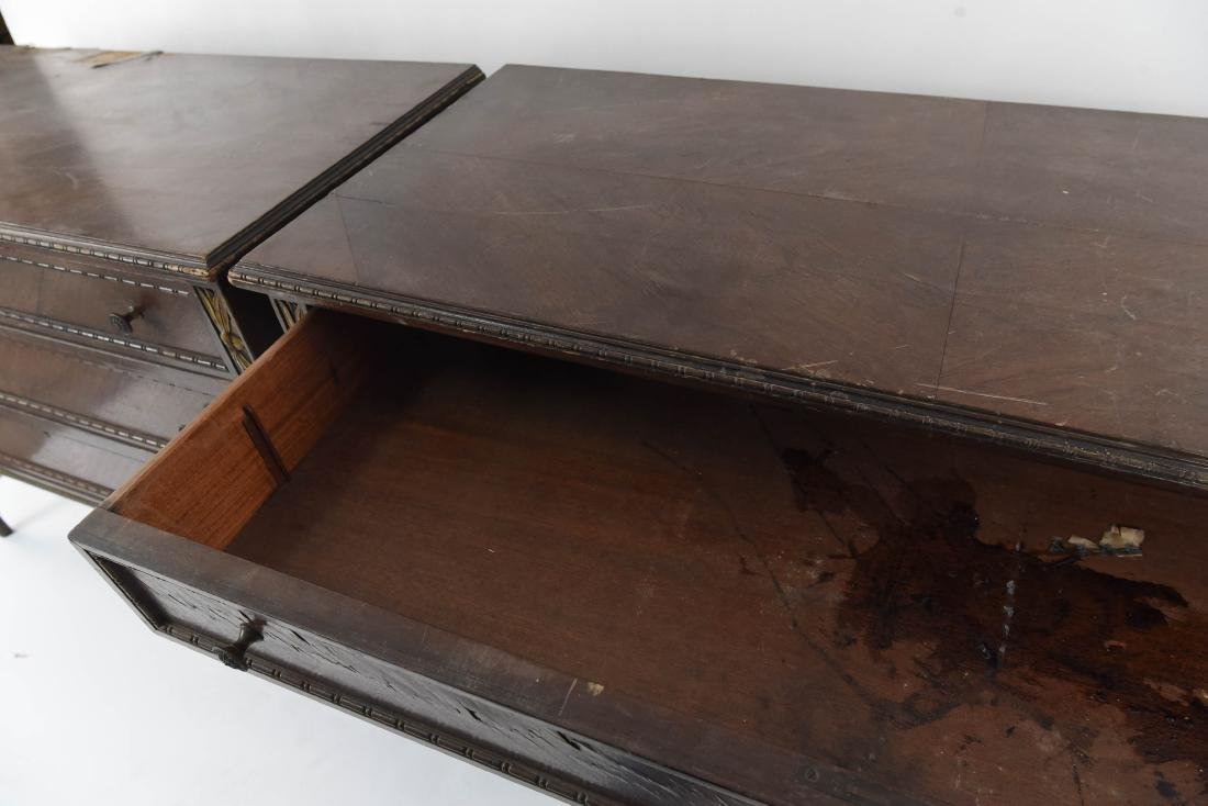 PAIR OF ANTIQUE THREE DRAWER CHESTS - 5