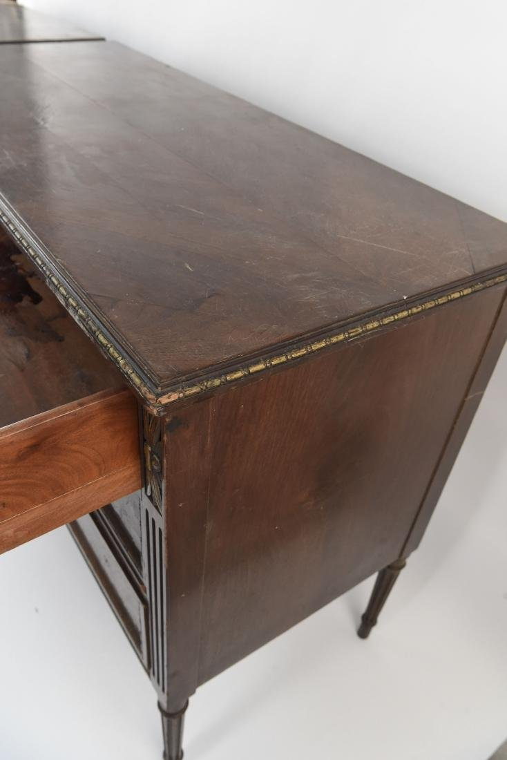 PAIR OF ANTIQUE THREE DRAWER CHESTS - 7