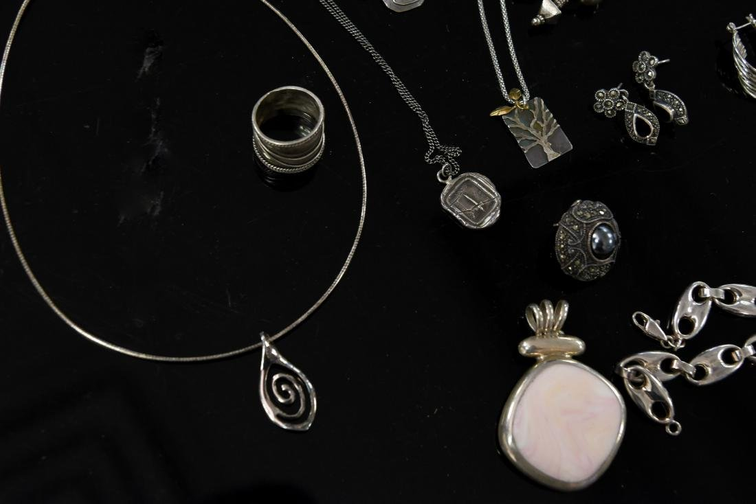 GROUPING OF STERLING JEWELRY - 6