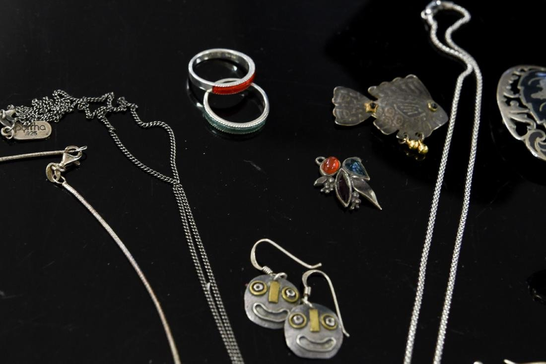 GROUPING OF STERLING JEWELRY - 7