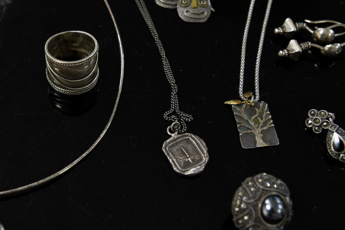 GROUPING OF STERLING JEWELRY - 8