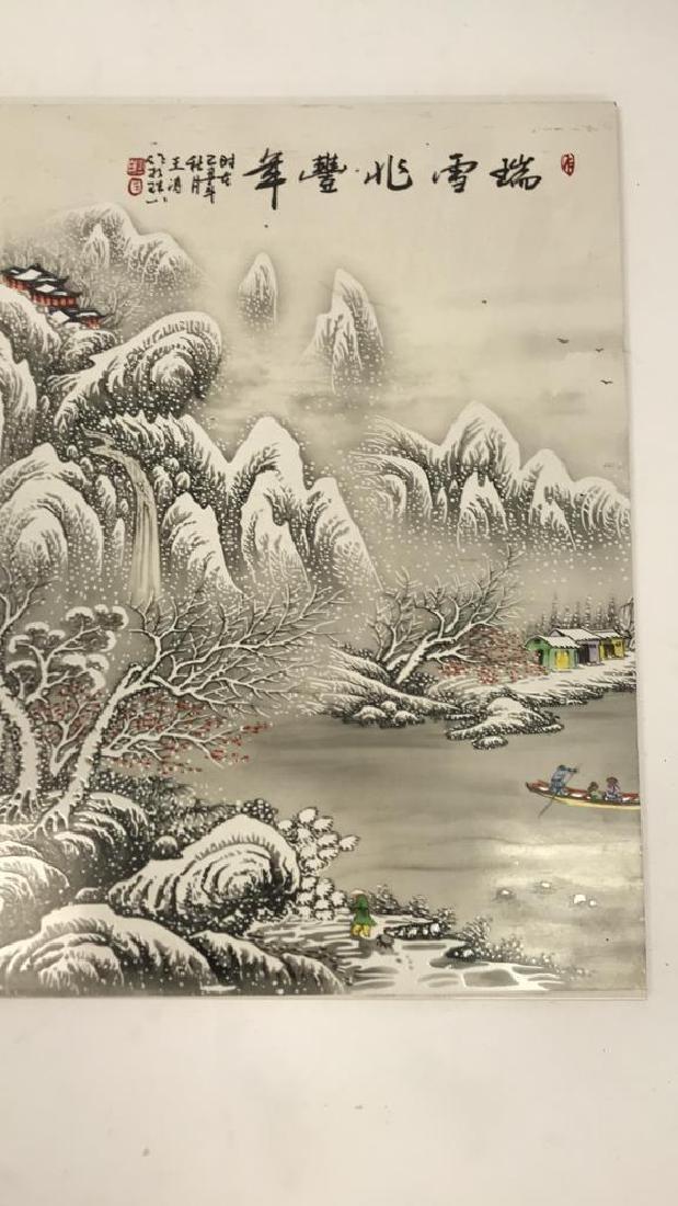 LARGE CHINESE CERAMIC PLAQUE - 2