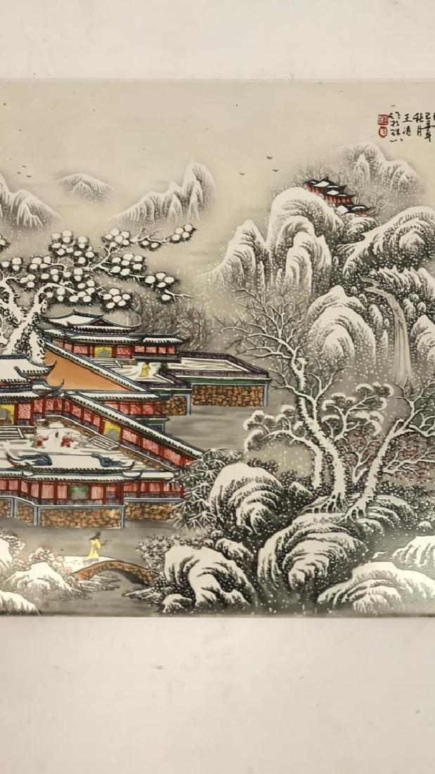 LARGE CHINESE CERAMIC PLAQUE - 3