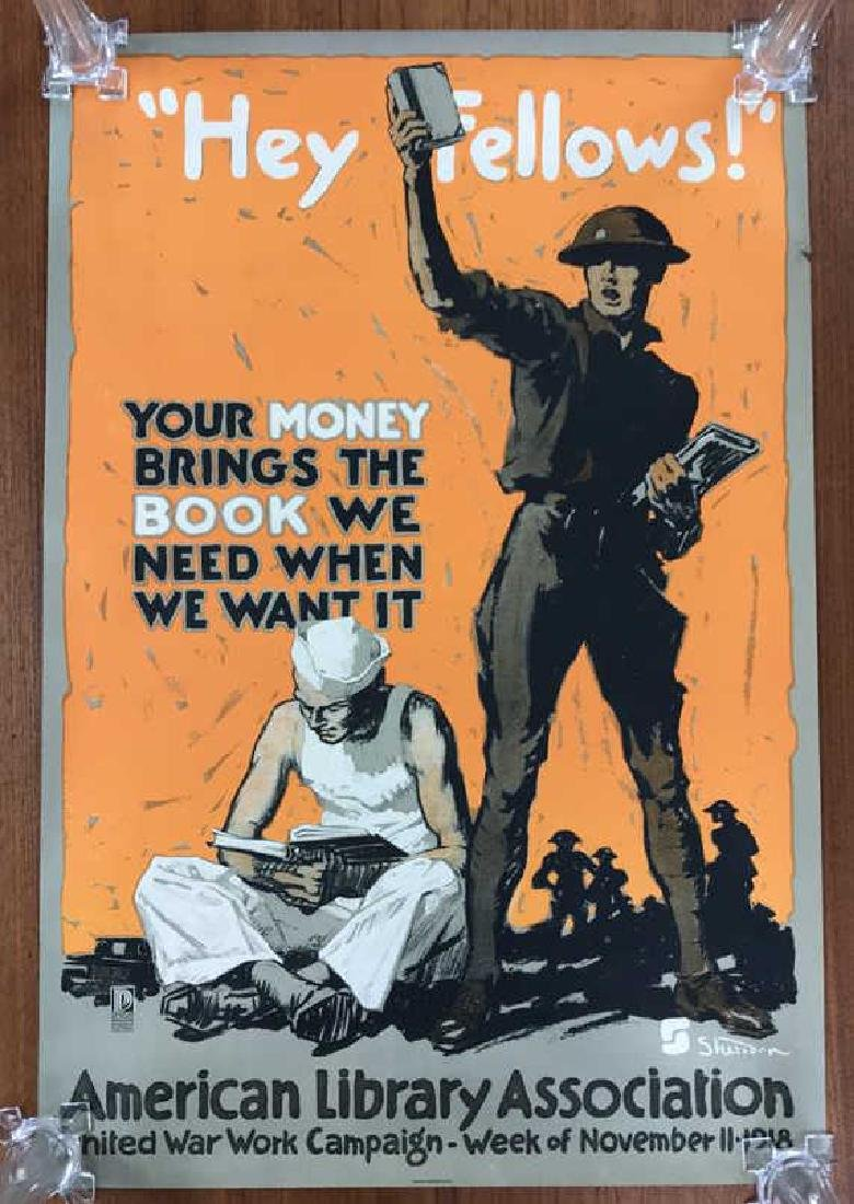 AMERICAN LIBRARY ASSOC. WORLD WAR I POSTER