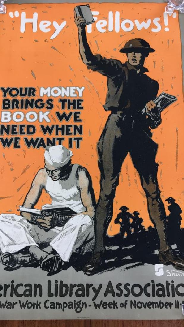 AMERICAN LIBRARY ASSOC. WORLD WAR I POSTER - 9