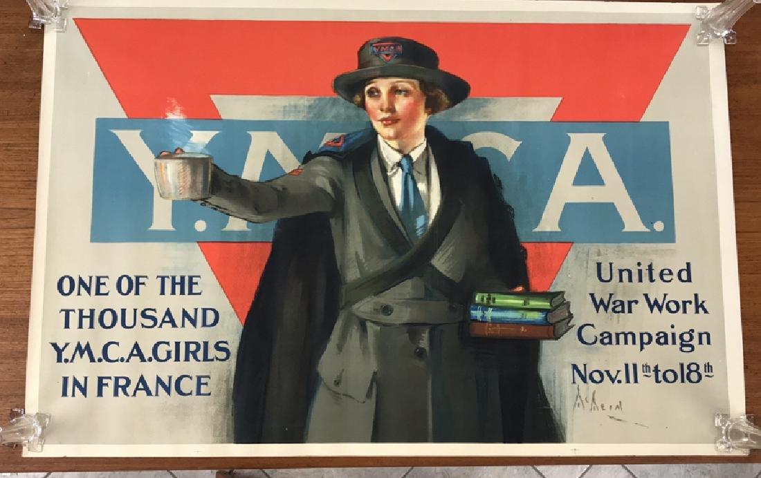 YMCA GIRLS WORLD WAR I POSTER
