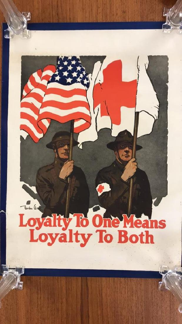 RED CROSS WORLD WAR I POSTER - 2