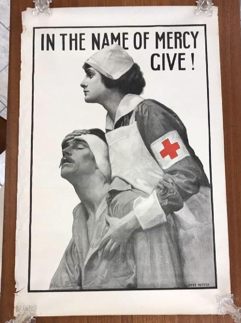 RED CROSS WORLD WAR I POSTER