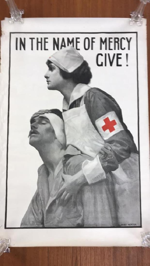 RED CROSS WORLD WAR I POSTER - 2