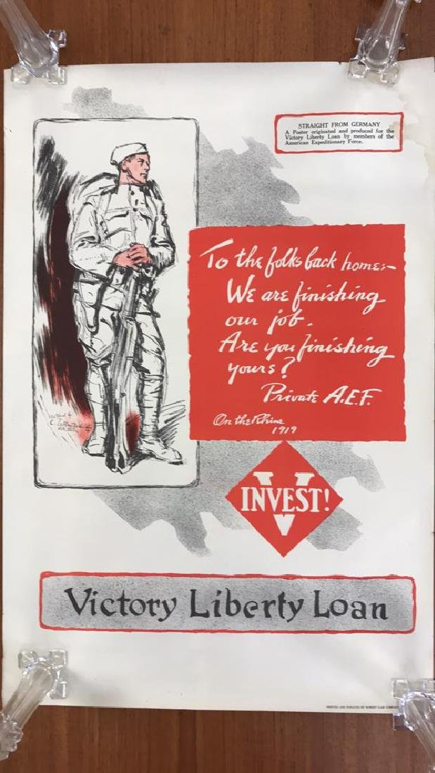 LIBERTY LOAN WORLD WAR I POSTER - 2