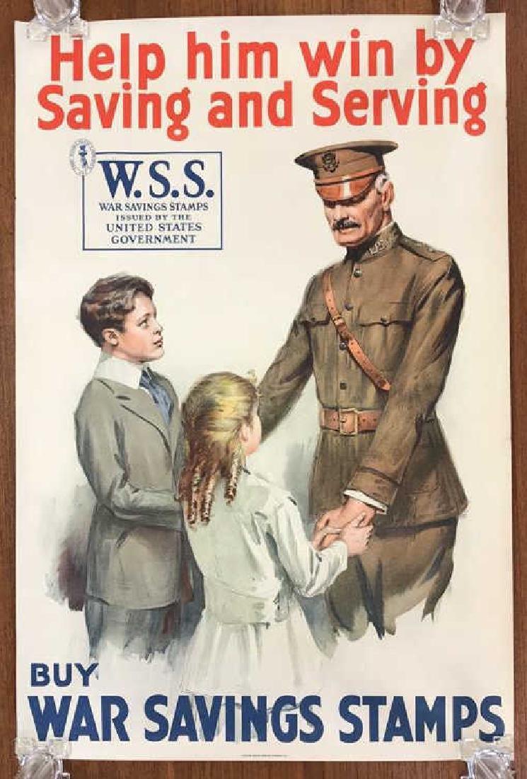 WAR SAVING STAMPS WORLD WAR I POSTER