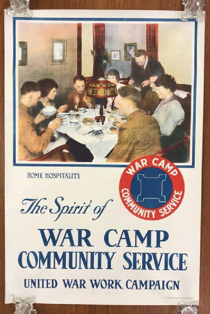 WAR CAMP WORLD WAR I POSTER