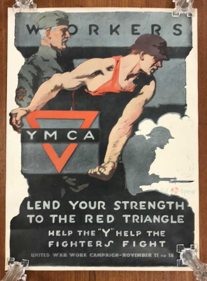 YMCA WORLD WAR I POSTER