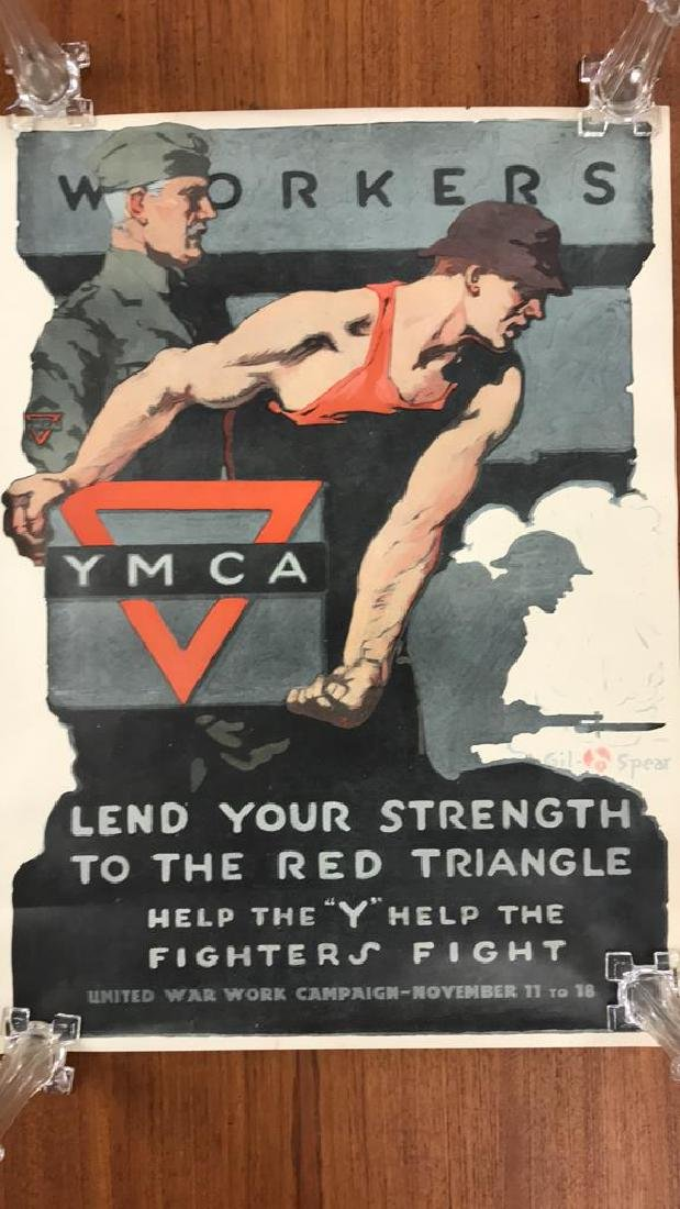 YMCA WORLD WAR I POSTER - 2