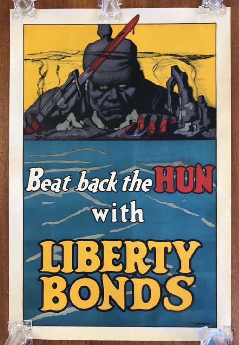 LIBERTY BONDS WORLD WAR I POSTER