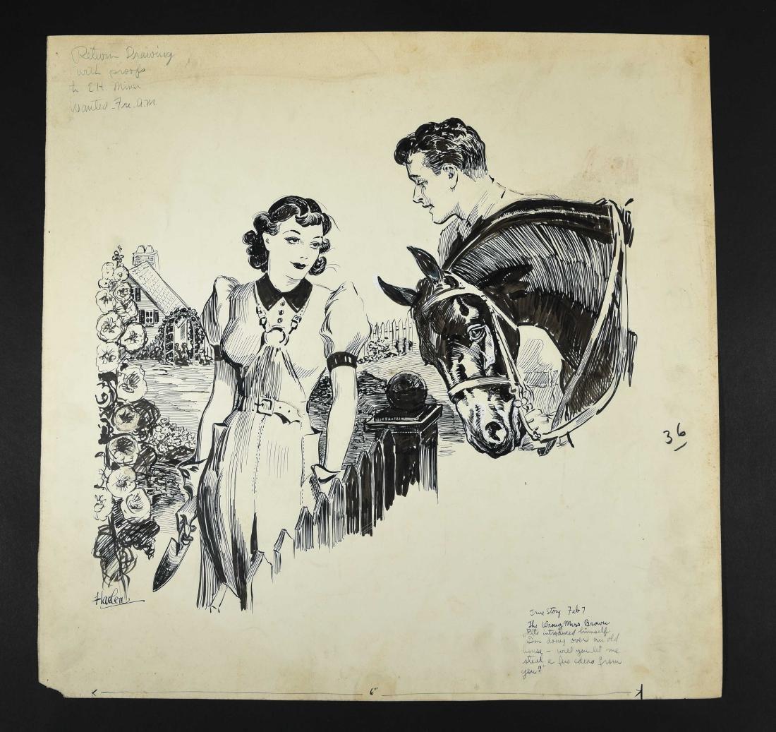JOHN A. HAELEN (AMERICAN 1920S/30S) ILLUSTRATION 5