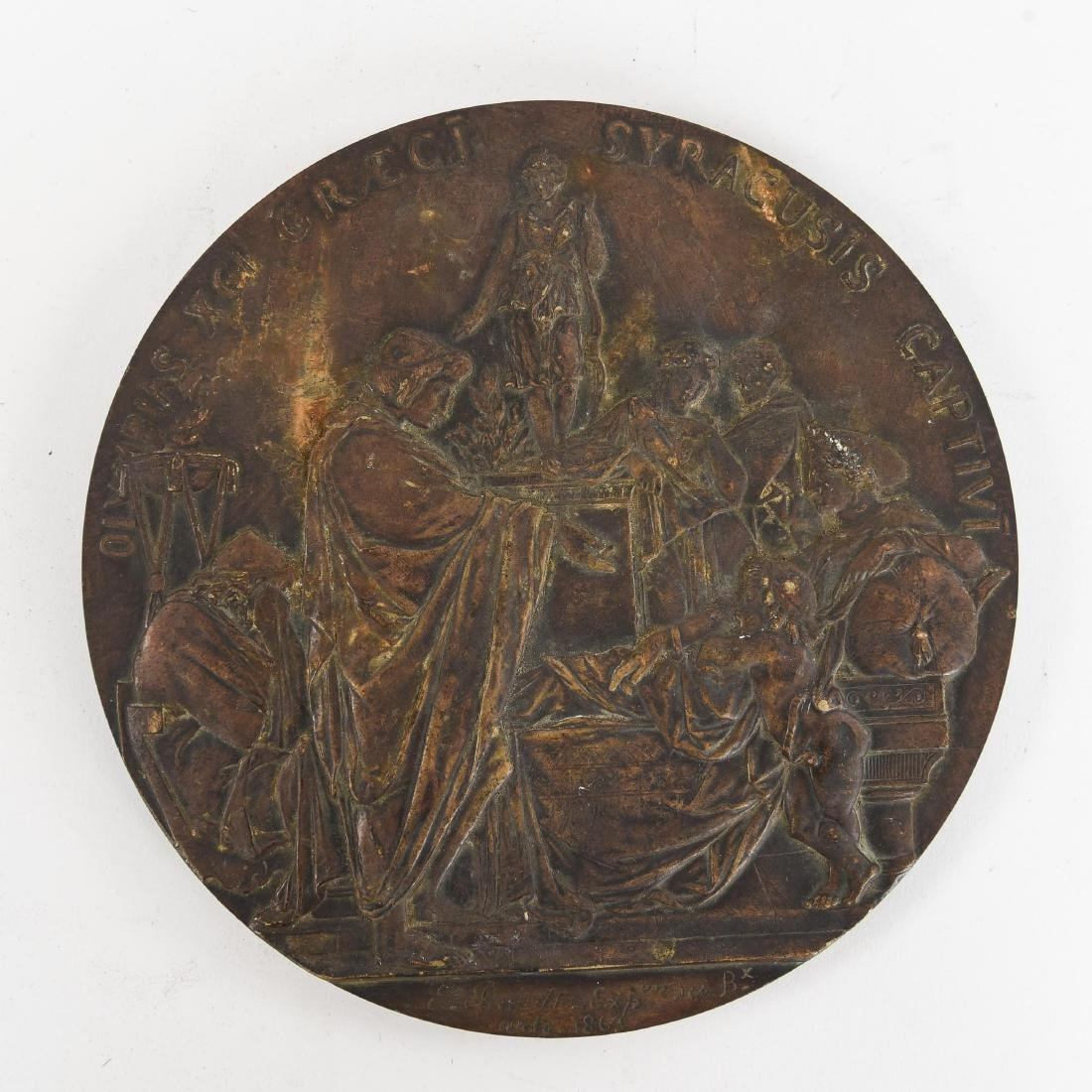 EMILE LOUIS PICAULT BRONZE PLAQUE