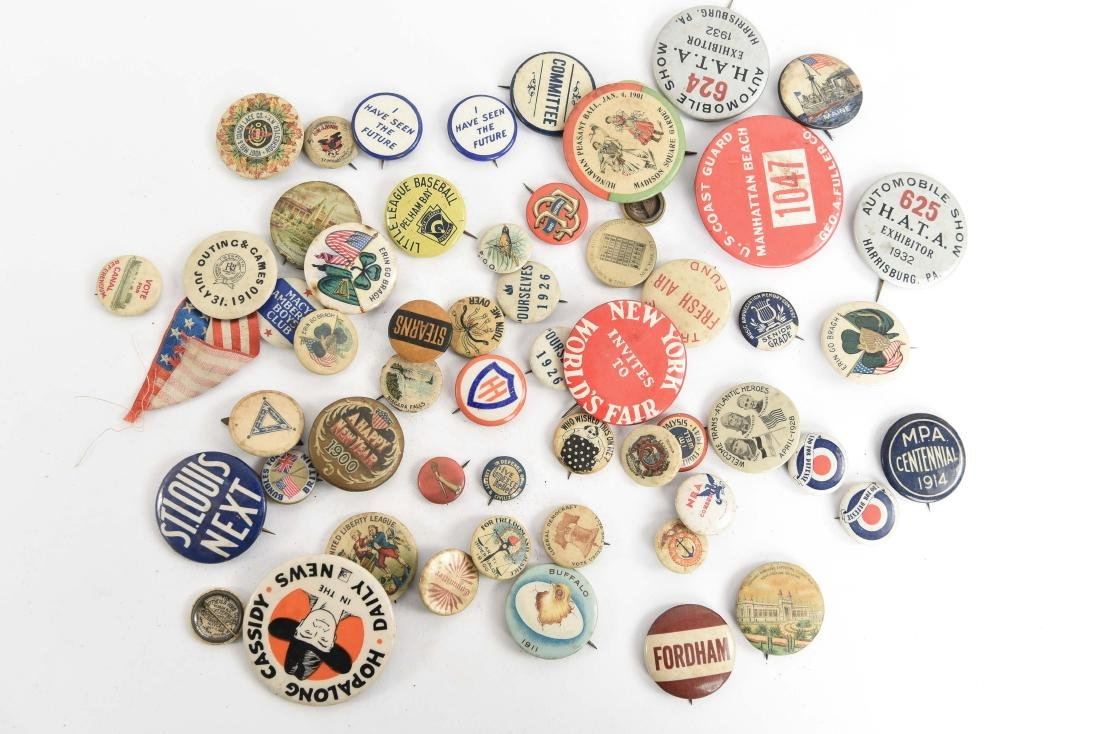 VINTAGE COLLECTABLE PIN BACK BUTTONS