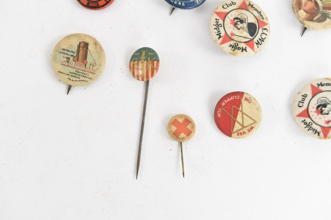 VINTAGE COLLECTABLE PIN BACK BUTTONS - 6