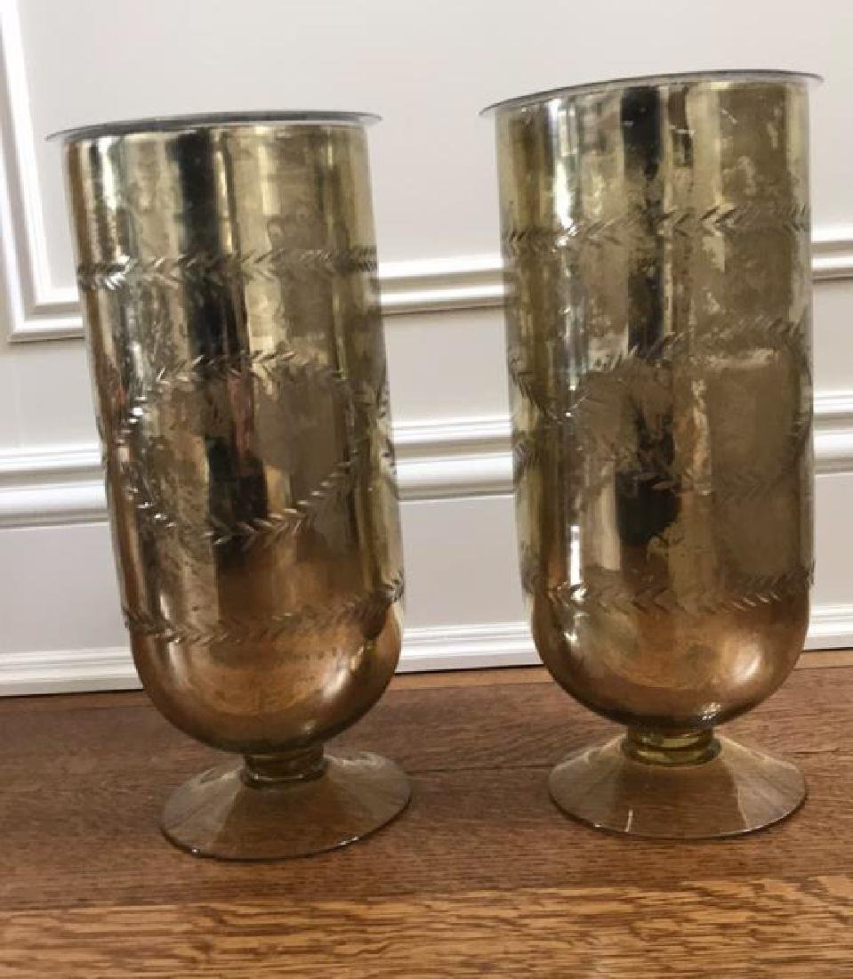 PAIR OF RALPH LAUREN GLASS VASES