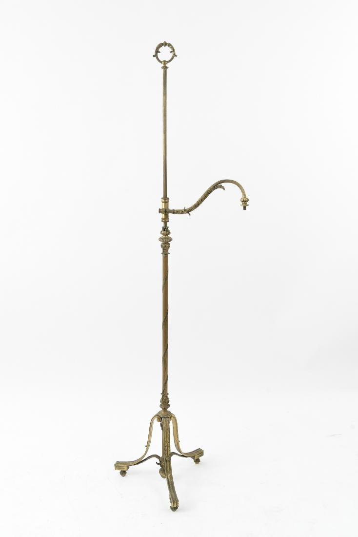 ORNATE BRONZE FLOOR LAMP BASE