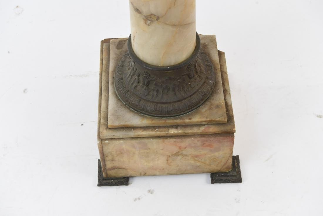 FRENCH MARBLE AND ORMOLU PEDESTAL - 4