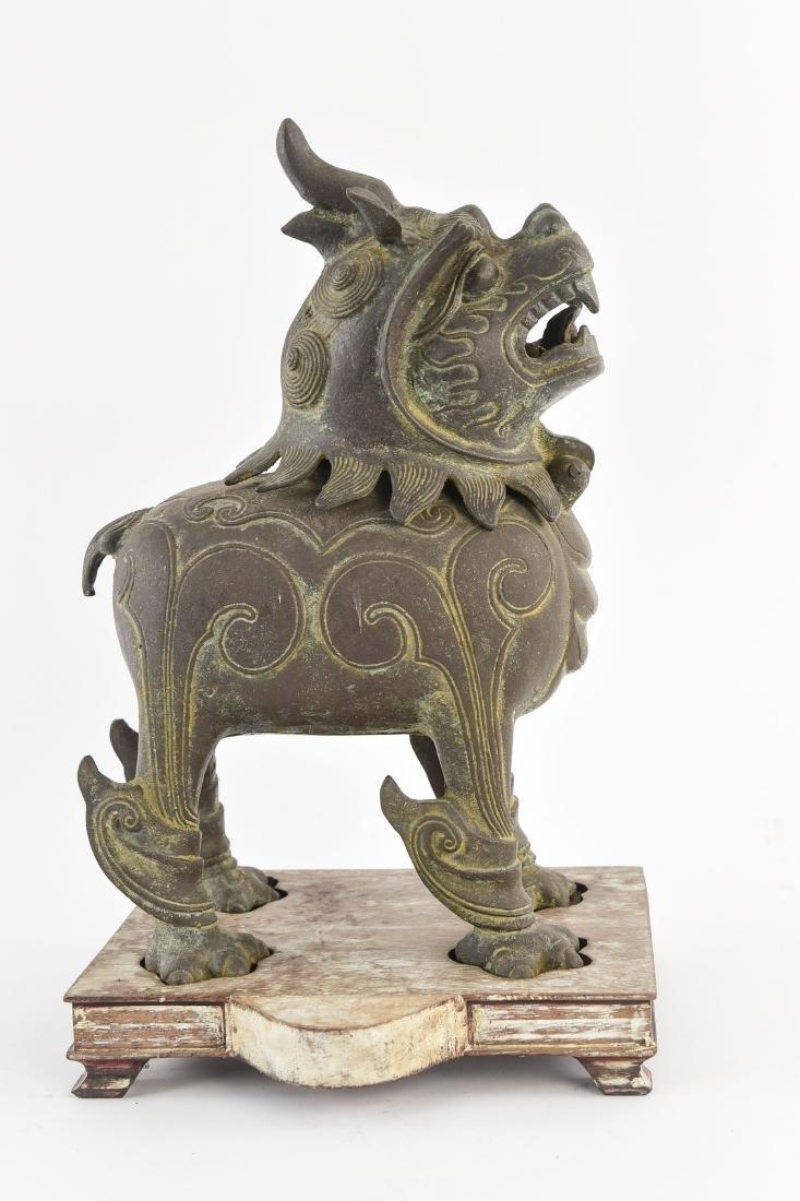 CHINESE BRONZE FOO DOG CENSER