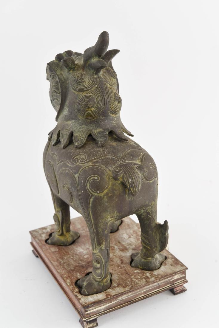 CHINESE BRONZE FOO DOG CENSER - 7