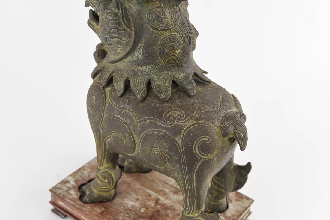 CHINESE BRONZE FOO DOG CENSER - 8