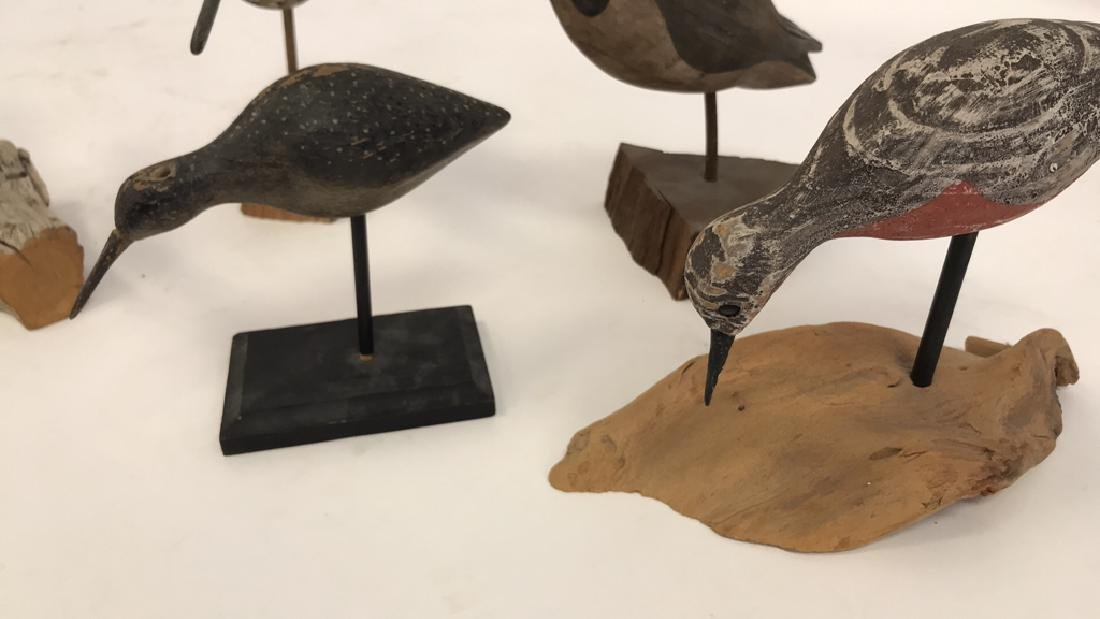 GROUPING OF CARVED WOODEN BIRDS - 2