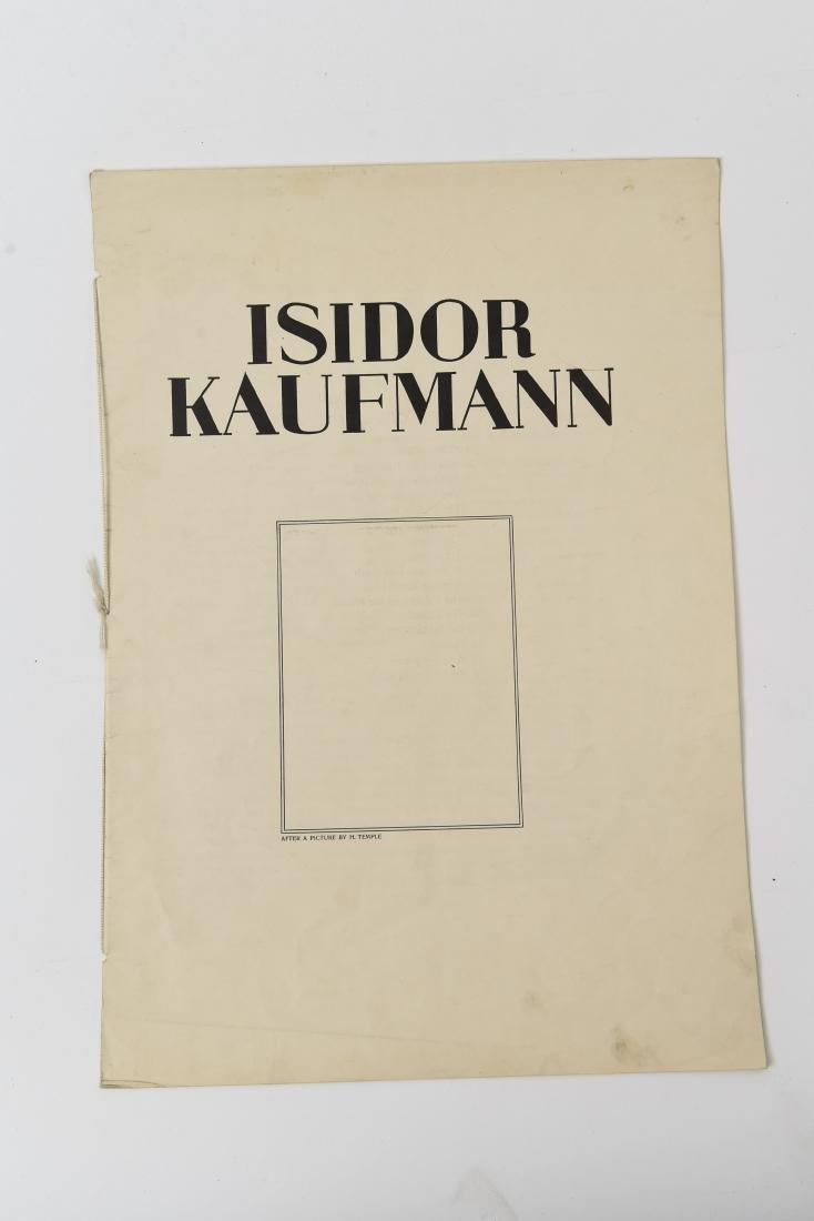 PARTIAL 1925 FOLIO OF ISIDOR KAUFMANN - 9