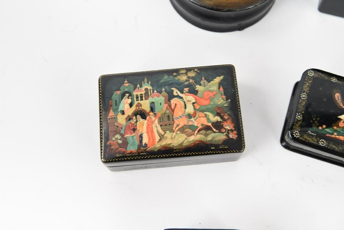 GROUPING OF RUSSIAN LACQUER BOXES - 3