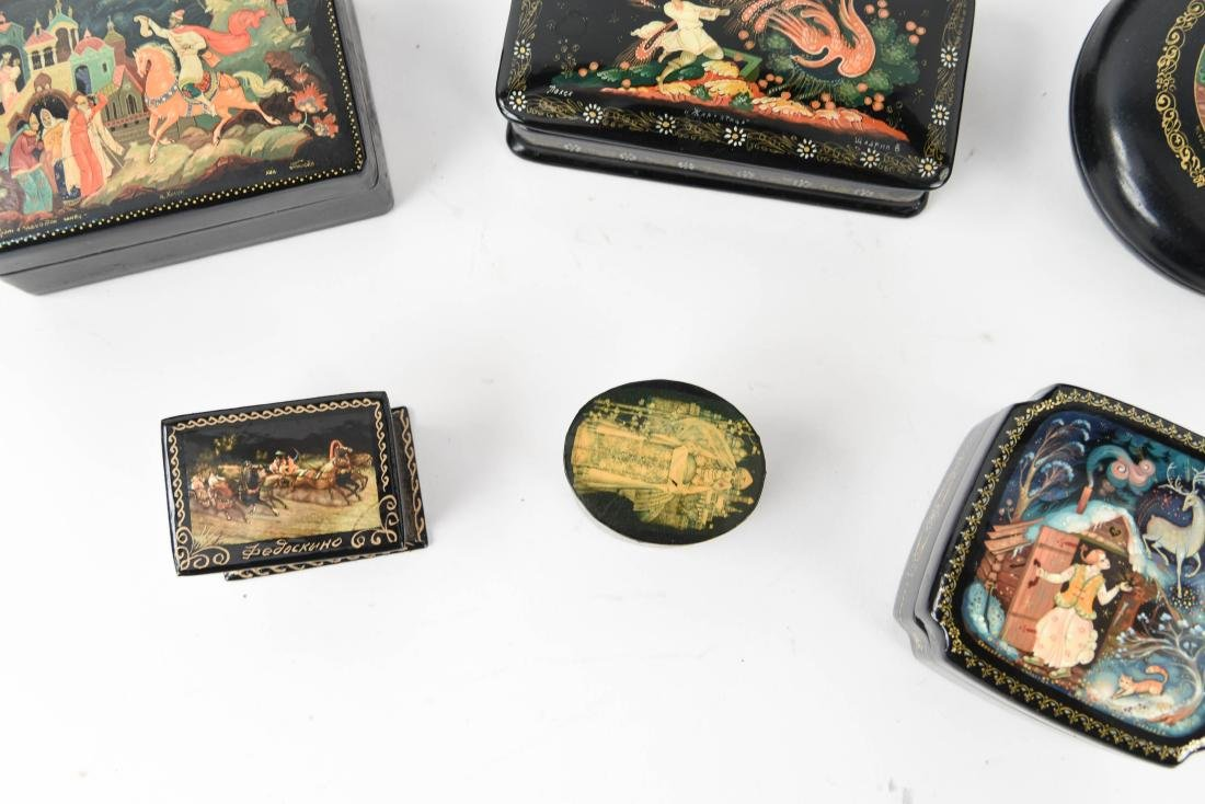 GROUPING OF RUSSIAN LACQUER BOXES - 5