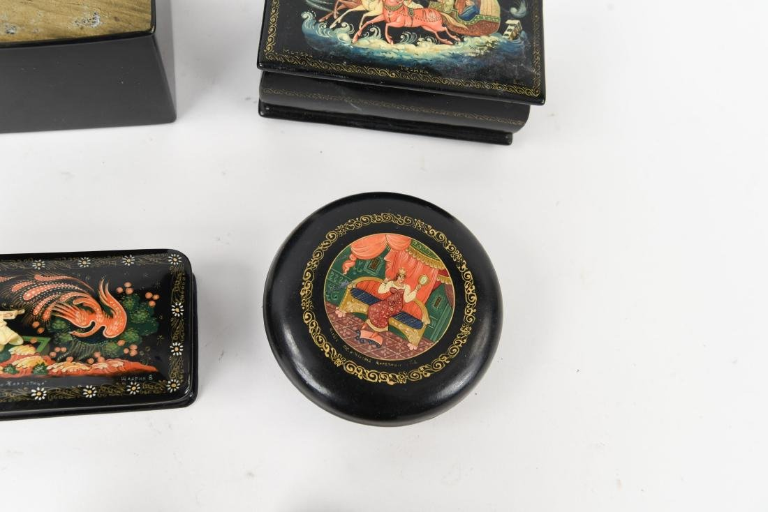GROUPING OF RUSSIAN LACQUER BOXES - 6