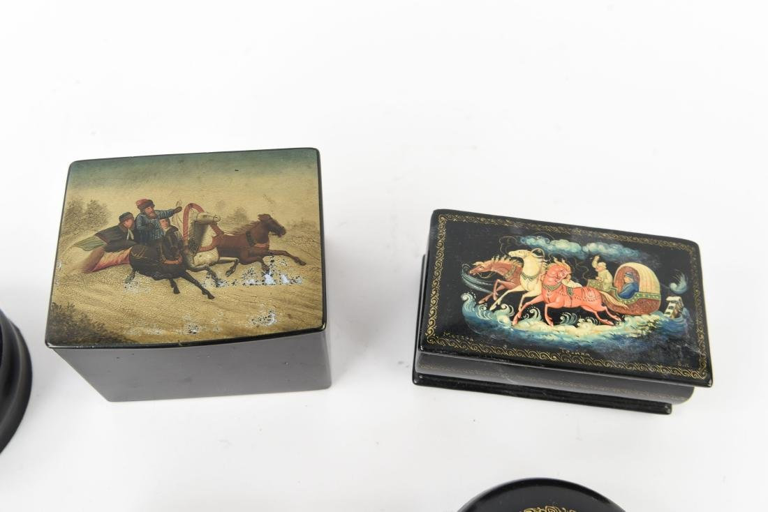 GROUPING OF RUSSIAN LACQUER BOXES - 7