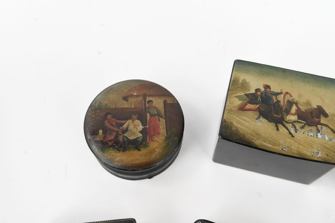 GROUPING OF RUSSIAN LACQUER BOXES - 8