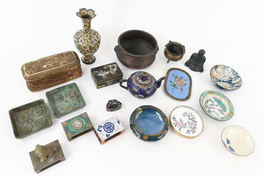 CHINESE & JAPANESE METALWARE GROUPING - 10