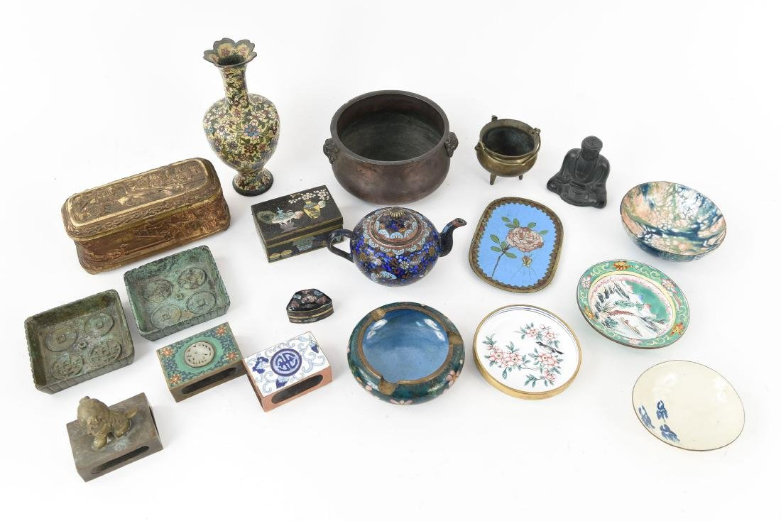 CHINESE & JAPANESE METALWARE GROUPING