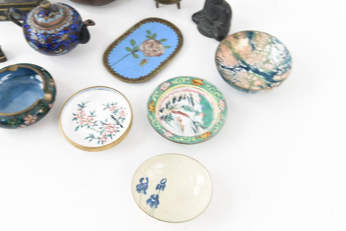 CHINESE & JAPANESE METALWARE GROUPING - 7