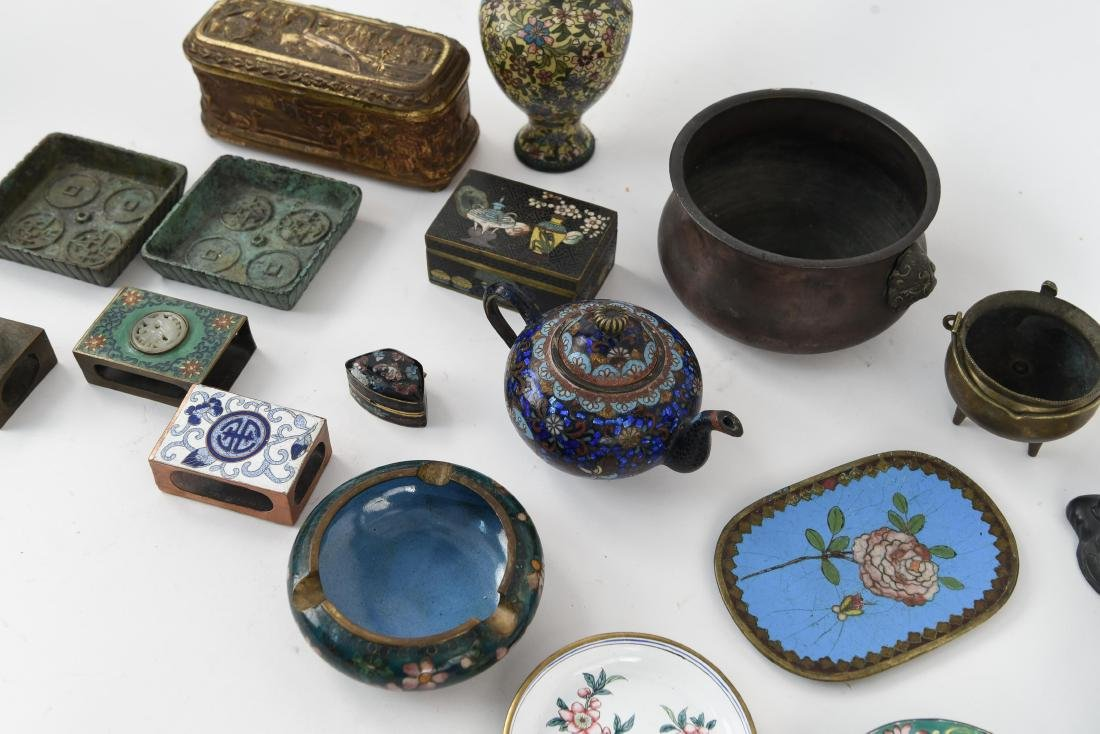 CHINESE & JAPANESE METALWARE GROUPING - 8