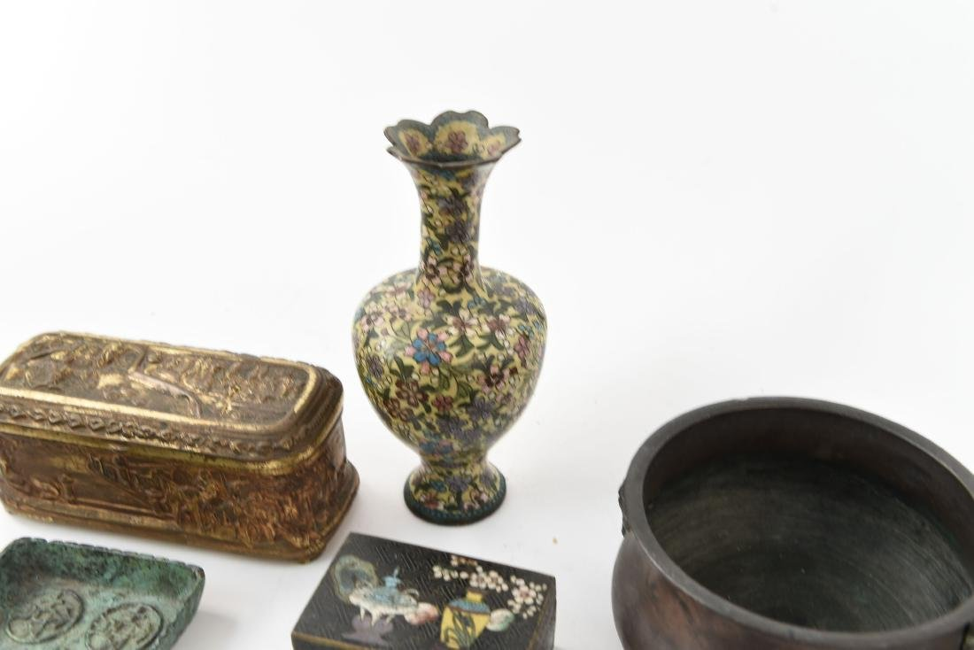 CHINESE & JAPANESE METALWARE GROUPING - 9