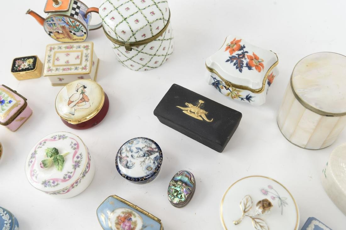 GROUPING OF PORCELAIN BOXES ETC. - 10