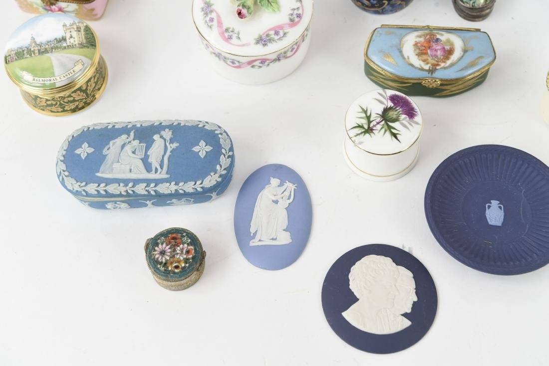 GROUPING OF PORCELAIN BOXES ETC. - 2