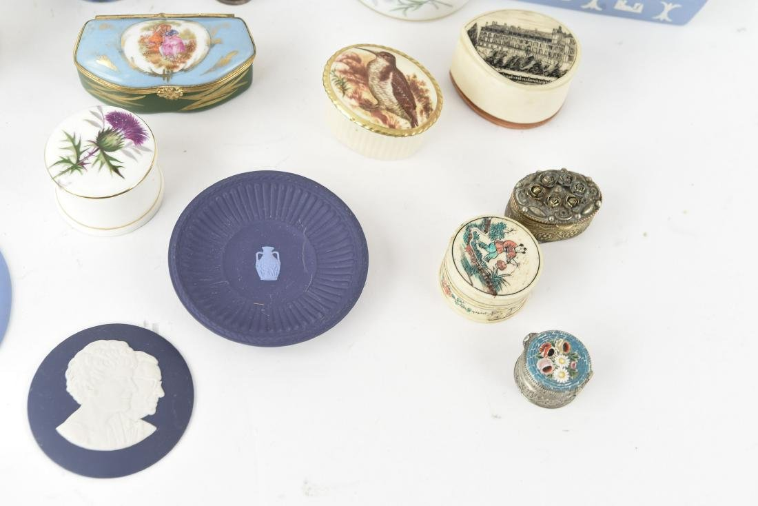 GROUPING OF PORCELAIN BOXES ETC. - 3