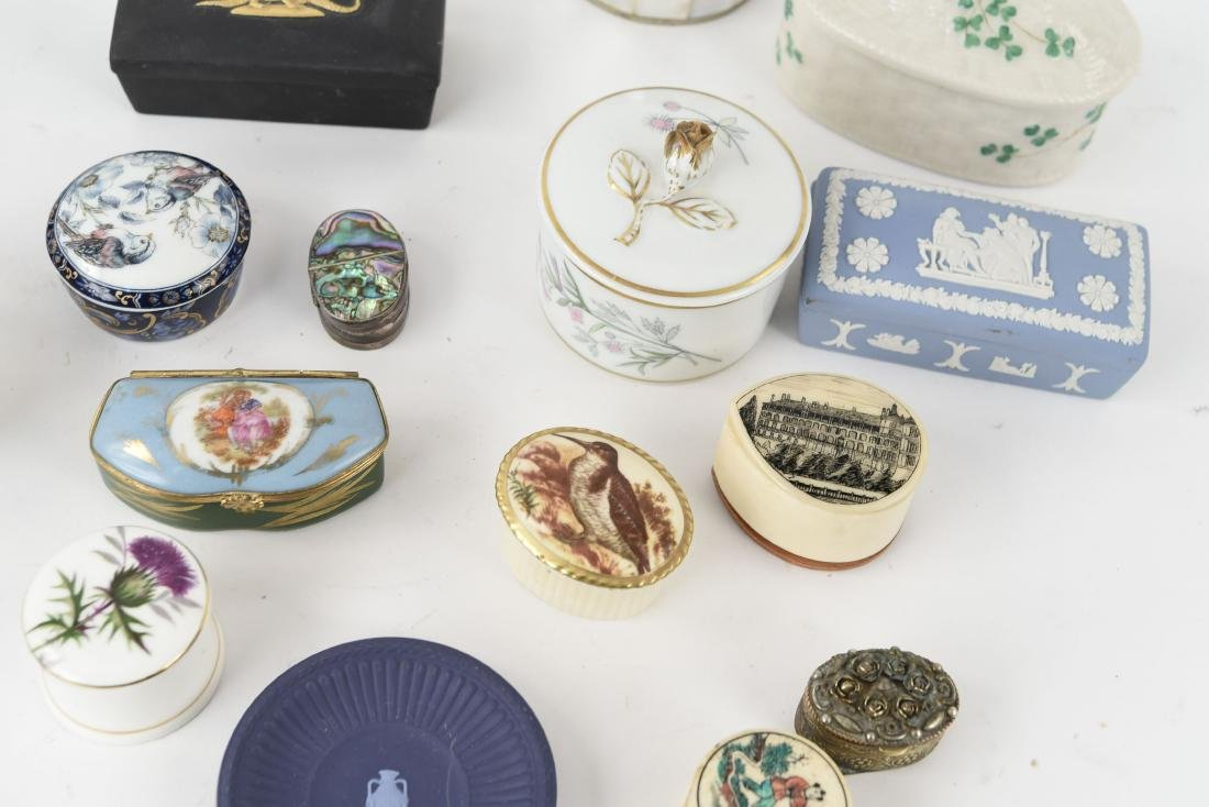 GROUPING OF PORCELAIN BOXES ETC. - 4