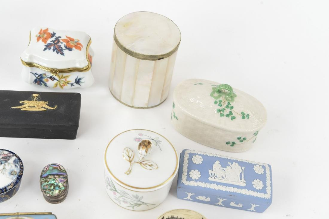 GROUPING OF PORCELAIN BOXES ETC. - 5
