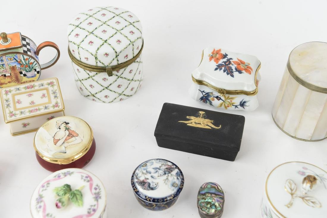 GROUPING OF PORCELAIN BOXES ETC. - 6