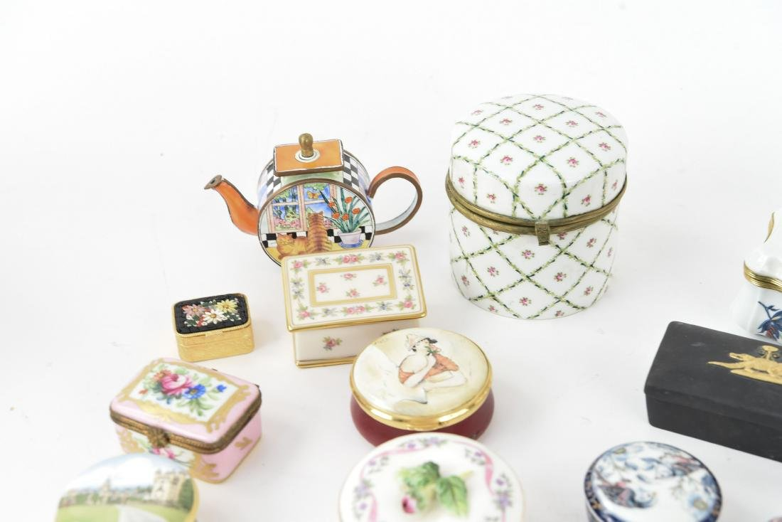 GROUPING OF PORCELAIN BOXES ETC. - 7